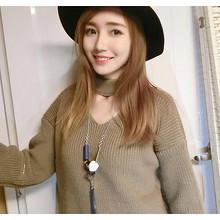 不再单调# 蓓朵 韩国冬季时尚流苏毛衣链 5.9元包邮(8.9-3券)