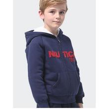 前1小时半价# nautica 诺帝卡 儿童加绒加厚卫衣 13点 168返84元