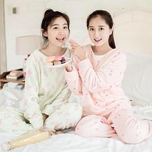 在家也要美# dahua home 法兰绒睡衣套装 29.9元包邮(49.9-20券)