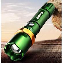 天火 LED强光远射超亮防水变焦手电筒 14元包邮(34-20券)