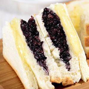 小夫 夹心紫米面包1100g