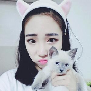 猫女郎# 超萌猫咪耳朵洗脸束发带