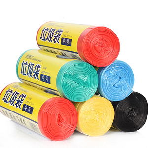 家用塑料彩色加厚垃圾袋 5卷