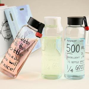 清新范儿# 麦天 字母水瓶玻璃杯