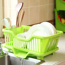 厨房必备# 家英 厨房碗筷塑料沥水架 12.9元包邮(15.9-3券)