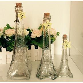 埃菲尔铁塔瓶 彩虹瓶礼品玻璃瓶 4.6元包邮