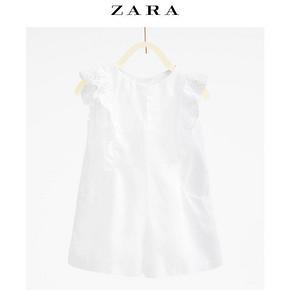ZARA 刺绣荷叶边连体短裤 29元包邮