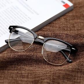 复古眼镜框平光镜片 7.9元包邮