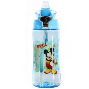 迪士尼 儿童带绳吸管杯 蓝色米奇 500ml 39元