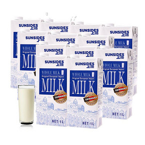 上质 全脂纯牛奶1L*12盒 69元