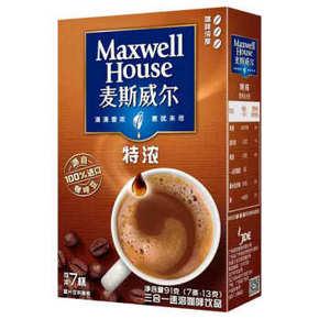 麦斯威尔 特浓速溶咖啡 13g*7条 折5.3元(3件5折)