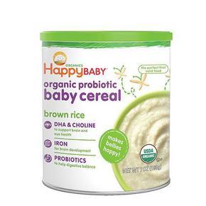 HAPPYBABY 禧贝 婴幼儿糙米米粉 1段 198g 9.9元