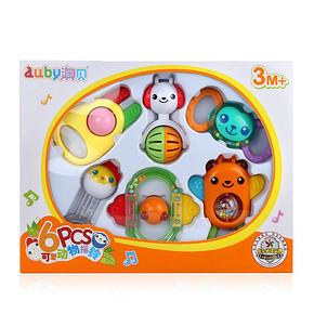澳贝 可爱动物6只装摇铃精致礼盒装 29元包邮