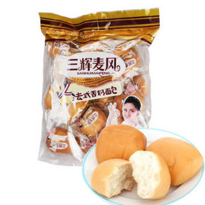 三辉麦风 法式香奶小面包450g 4.9元