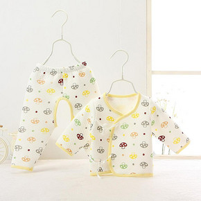 聪明呗呗 新生儿长袖和尚服 9.9元包邮