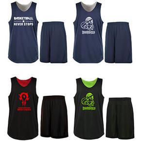 透明风 篮球服双面穿两件套装 券后9.8元包邮