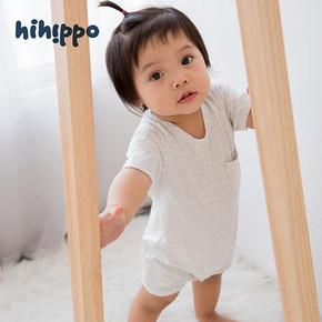 HIHIPPO 童装婴幼儿纯棉连体衣 13.8元包邮