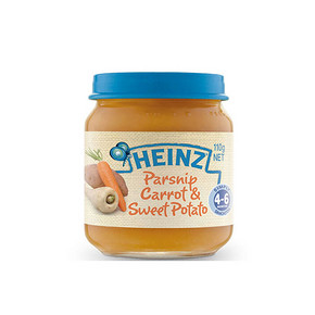 Heinz 亨氏 婴幼儿辅食 胡萝卜甜薯泥 110g 11.7元(9.9+1.8)