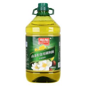 加加 非转基因山茶籽食用调和油食用油 4L 39.9元