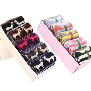 南极人 兔羊毛儿童袜子5双装 9元包邮(49-40券)
