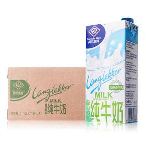 Friesche Vlag 荷兰旗牌 超高温灭菌部分脱脂牛奶 1L*12盒 69元