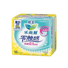 花王 乐而雅 超丝薄迷你日用 17cm*16片 7.6元