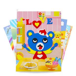 儿童玩具 加厚EVA立体粘贴画10张 9.9元包邮