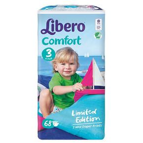 限地区# Libero 丽贝乐 婴儿纸尿裤 S68片 54.5元(下单5折)