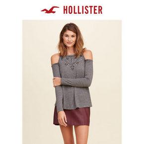 HOLLISTER 刺绣露肩上衣 74.7元