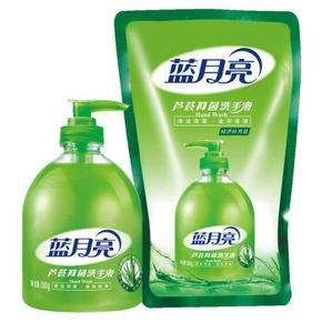 限地区# 蓝月亮 芦荟抑菌洗手液 瓶500g+袋500g 折9.9元(19.9,199-100)