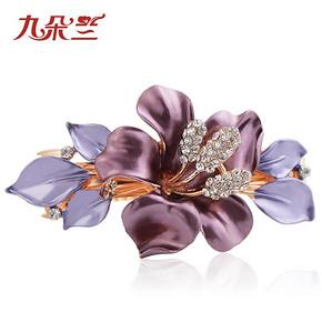 花朵装饰水钻盘发发卡子 8.8元包邮