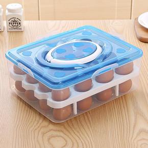 双层带盖冰箱鸡蛋收纳盒 11.8元包邮