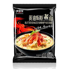 限地区# 美食家 东南亚风味方便面 黄油焗虾煮面 142g 3.9元