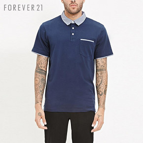 forever21 男士百搭短袖Polo衫 28元
