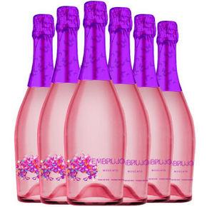 西班牙进口 爱如·蝶之语甜桃红起泡葡萄酒 750ml*6瓶 99元包邮