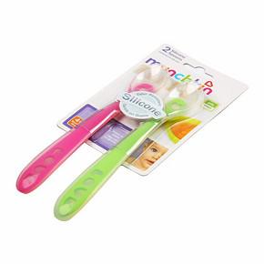 满趣健 婴幼儿专属硅胶软勺   2支装 29.9元(可188-100)