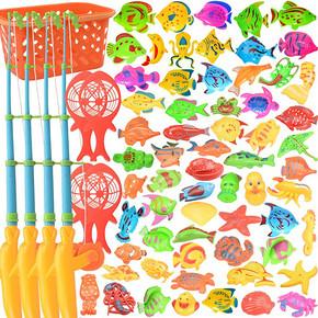 儿童钓鱼玩具磁性钓竿  9.9元包邮