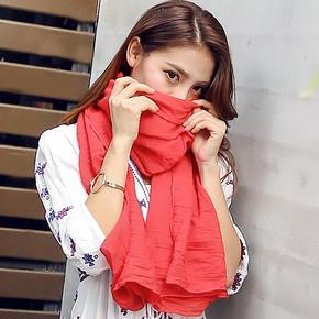 春夏防晒纱巾丝巾 4.5元包邮