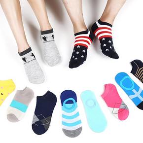 夏季多彩船袜5双装 7.8元包邮