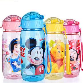 迪士尼 儿童吊带塑料吸管杯 400ml 9.9元