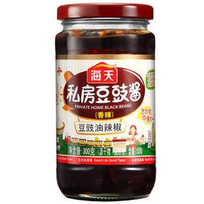 饭扫光# 海天 私房豆豉下饭酱 香辣味 300g 折5元(4件5折)