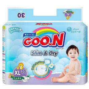 GOO.N 大王 特薄干爽 婴儿纸尿裤 XL30片 折45元(136选3件)