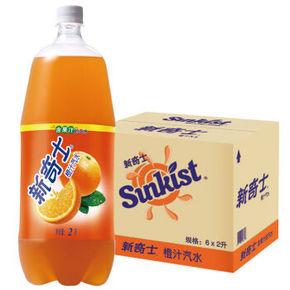 屈臣氏 新奇士 橙汁汽水 2L*6瓶 折30.2元(40.2,99-30)