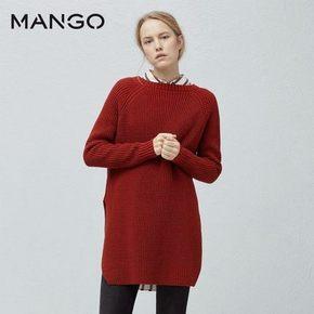 MANGO  女士长袖中长款毛衣 折111元(2件8折)