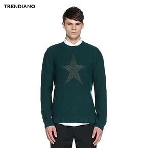 TRENDIANO 五角星圆领套头针织衫毛衣 99元