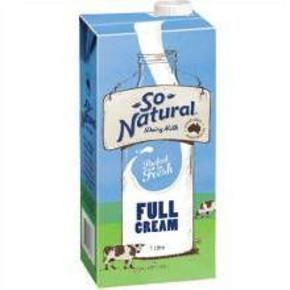 So Natural 全脂UHT牛奶 200ml*24盒 36.9元