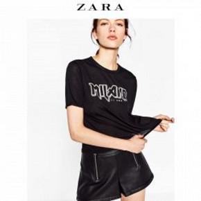 ZARA TRF 女装字母印花T 恤 69元包邮