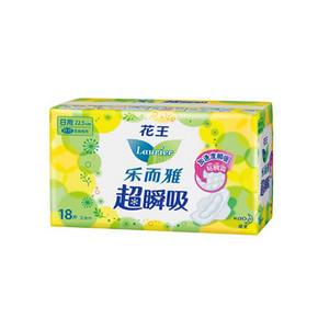 花王 乐而雅 超瞬吸纤巧日用卫生巾 22.5cm*18片*2包 10.8元(买1送1)