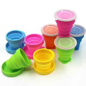 硅胶可折叠杯旅行伸缩水杯 9.9元包邮