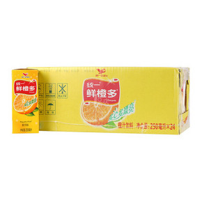 统一 鲜橙多 250ml*24盒 21.8元
